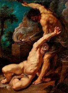 Cain Slaying Abel by Peter Paul Rubens, 1608-1609