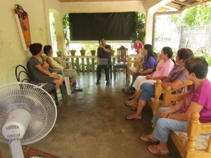 Evangelistic Bible study in Isabela