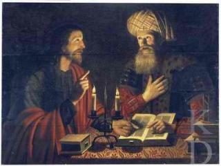 Jesus with Nicodemus