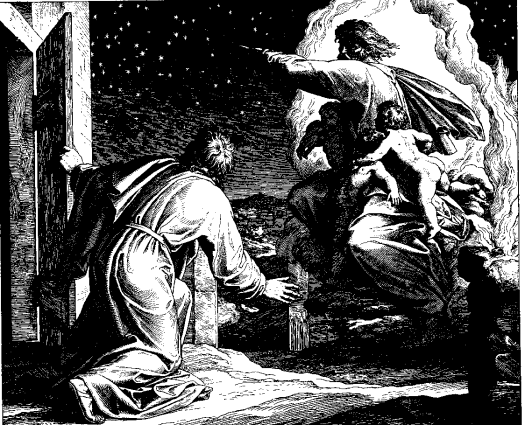 The Vision of the Lord Directing Abram to Count the Stars (woodcut by Julius Schnorr von Carolsfeld from the 1860 Bible in Pictures)