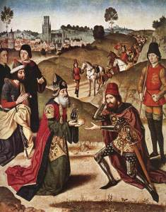 Meeting of Abram and Melchizedek (painting circa 1464–1467 by Dieric Bouts the Elder)