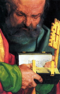 The Four Apostles (detail showing Simon Peter), 1526, by Albrecht Dürer