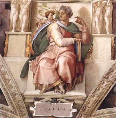 """Isaiah"" by Michelangelo c. 1508–1512, Sistine Chapel ceiling, Vatican City"