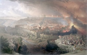 """The Siege and Destruction of Jerusalem"" in A.D. 70, by David Roberts (1850)"