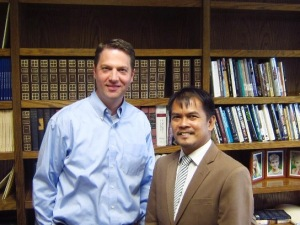 With Prof. Marcus Mininger, Assistant Professor in New Testament Studies at MARS