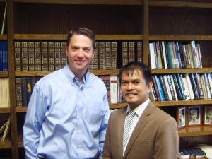 With Prof. Marcus Mininger, Assistant Professor in New Testament Studies at MARS